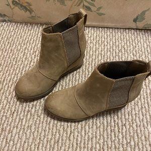 Sorel Leather Waterproof Wedge Boots